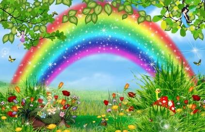 Сценки школьные о погоде - радуга.