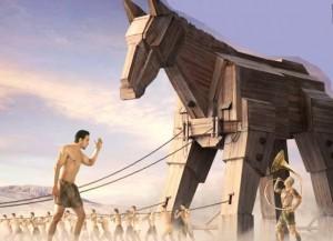 троянский конь - Сценки про школу