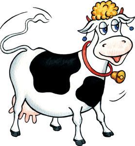 Было прекрасное летнее утро и корова