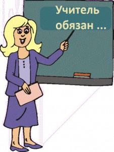 Обязанности учителя