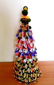 елка из конфет в последний день года