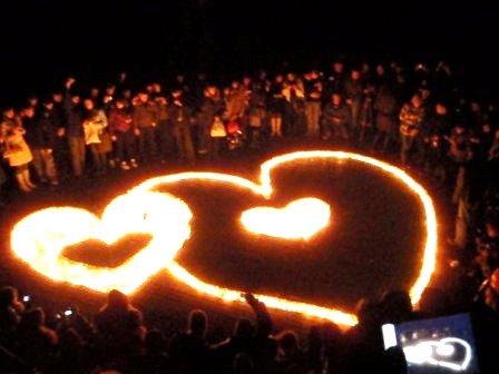 День Святого Валентина своими руками - сердца из свечек в Севастополе