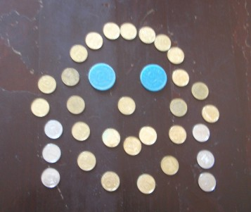 конкурсы для мужчин - портрет жены из монет