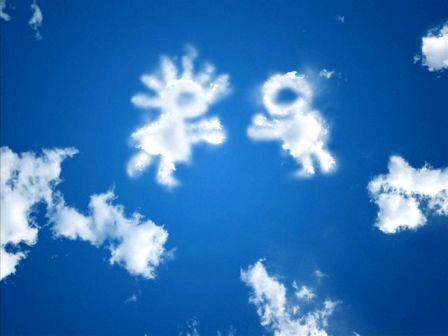 Сценка про экологию «Прогноз погоды с экологическим уклоном» - облака в виде человечков
