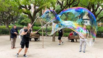 Шоу мыльных пузырей – детский праздник