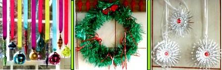 елочные игрушки и украшения - как украсить комнату на Новый год