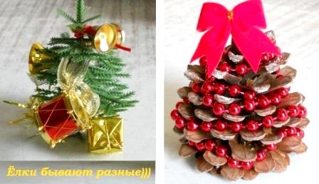 новогодние елочки и украшения - как украсить комнату на Новый год