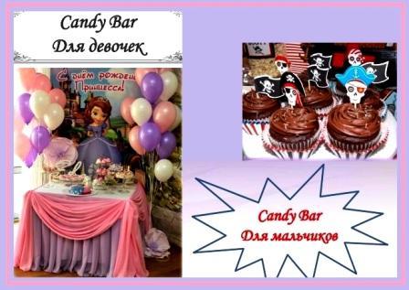 Candy Bar на День рождения – настоящий праздник детства
